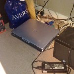 2009 - A picture of the second HP laptop we used as a server. The model was an HP Pavilion zv5383EA.